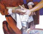 Fiche N°22 : Le dernier repas de Jésus avec ses disciples ;  le lavement des pieds (Jn 13).