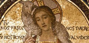 Christ-Bon-Pasteur-mosaïque-de-San-Lorenzo-détail