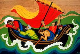 jésus dans la barque