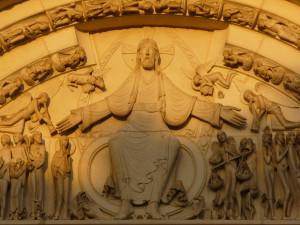 Christ Vézelay, tympan extérieur