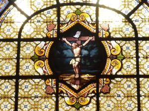 Crucifix vitrail