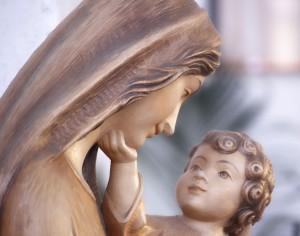 Vierge marie et l'enfant