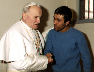 FILE PHOTO 27DEC83 - Pope John Paul II meets with his would-be assasin, Turkish gunman Mehmet Ali Agca in his prison cell in December 1983. Italy granted Agca clemency June 13, the presidential palace said. Agca has still to serve part of a sentence in Turkey for killing a journalist in 1978. PH