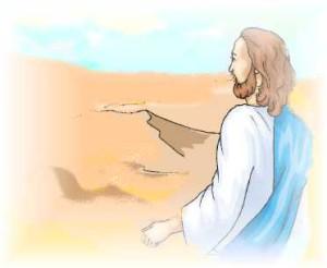 Jésus au désert