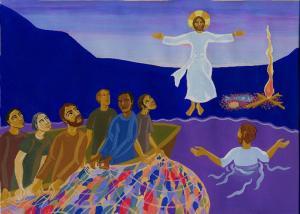 Jésus ressuscité apparait aux disciples