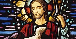 Christ Bon Pasteur - vitrail