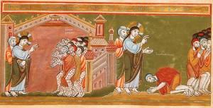 Codex Aureus - Guérison des dix lépreux