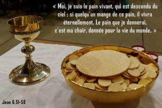 19ième Dimanche du Temps Ordinaire – par le Diacre Jacques FOURNIER (Jn 6,41-51)