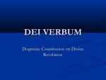 L'Inspiration divine de la Sainte Ecriture et son interprétation  (Voir le Concile Vatican II, « Dei Verbum, chapitre 3)