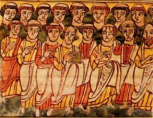 La multitude des sauvés, Apocalypse, miniature de Valenciennes