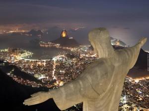 Christ Rédempteur (Rio de Janeiro, de nuit)