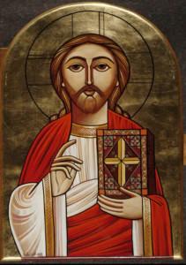 Christ bénissant (Icône copte)