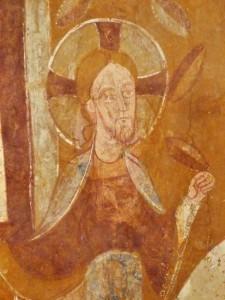 Christ, fresque d'Auxerre (fin du 11°s)