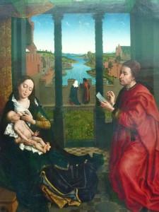 St Luc peignant Marie (Rogier van der Weyden, environ 1440 ao.JC