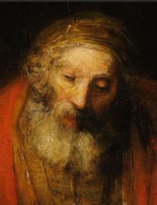 Le Père qui a tant veillé le retour de son fils prodigue (Rembrandt)