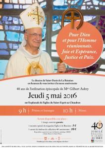 affiche 40 épiscopat Mgr Aubry