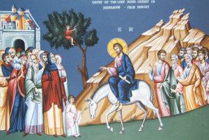 l'entré de Jésus à Jérusalem