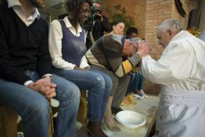 Pape François - jeudi saint en prison