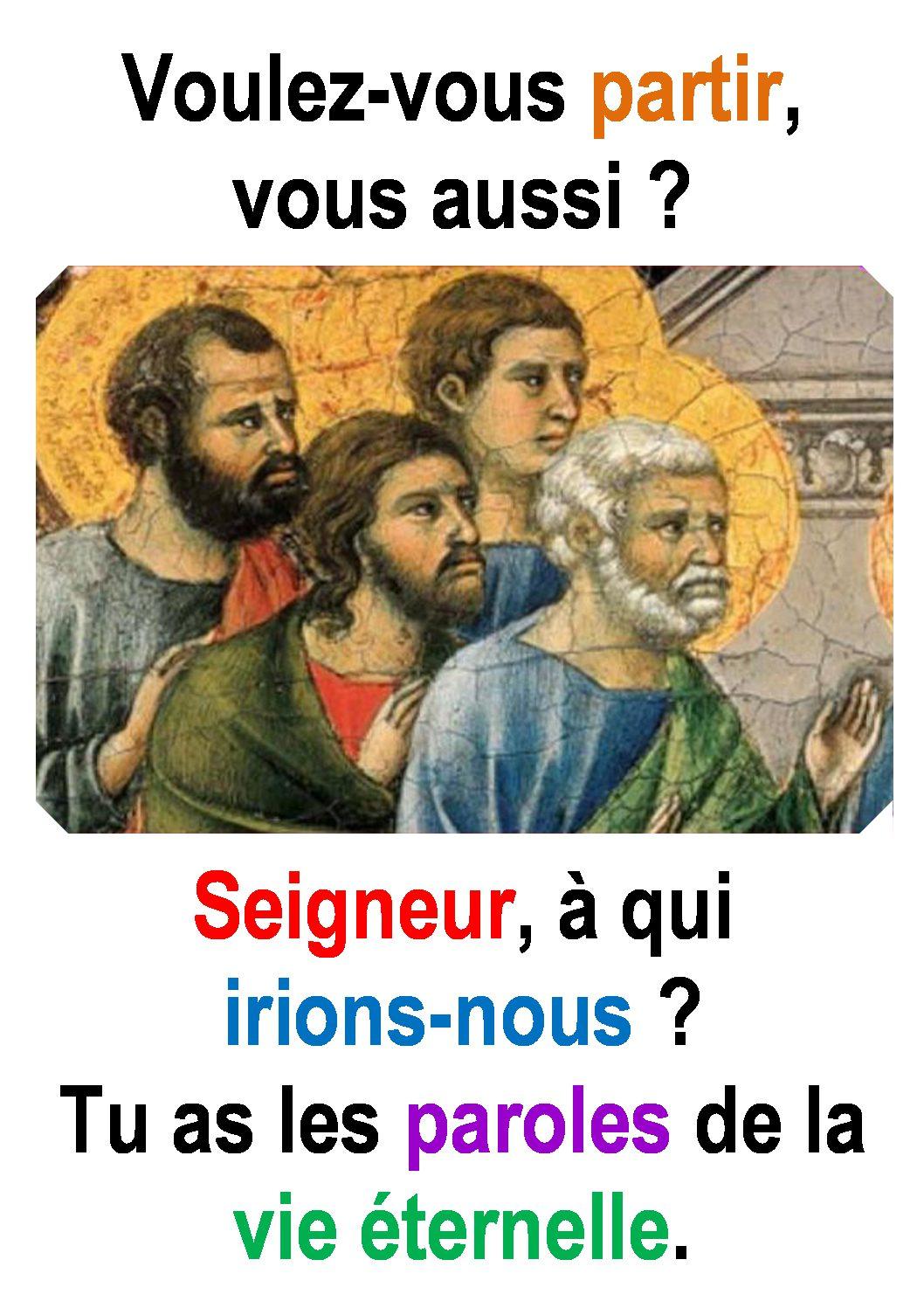 21ième Dimanche du Temps Ordinaire – par Francis COUSIN (Jn 6, 60-69)