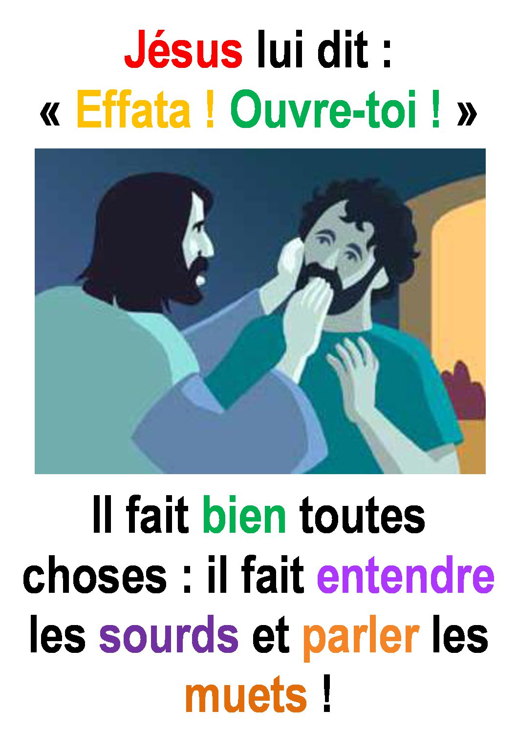 23ième Dimanche du Temps Ordinaire – par Francis COUSIN (Marc 7, 31-37)