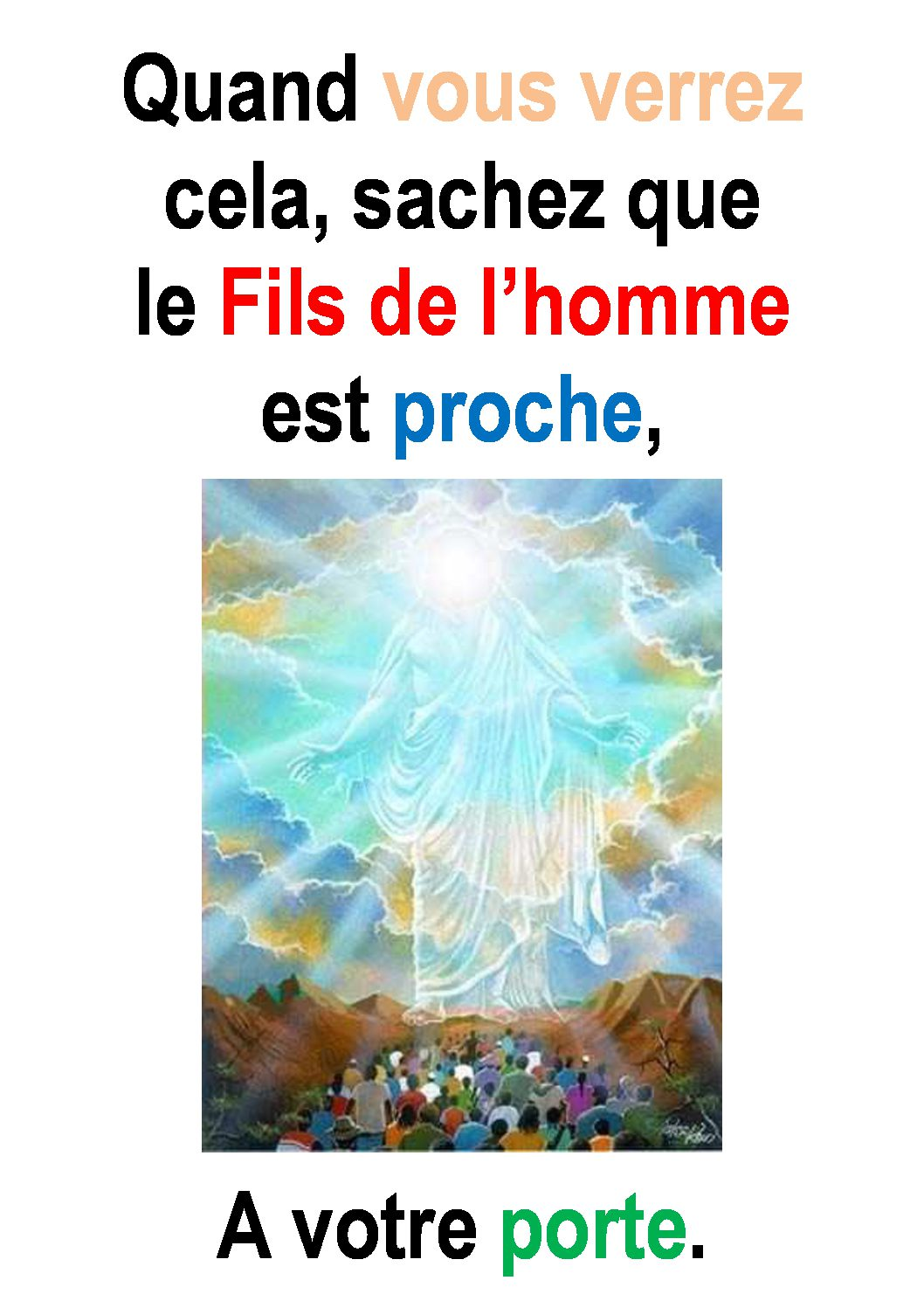 33ième Dimanche du Temps Ordinaire – par Francis COUSIN (Marc 13, 24-42)