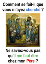 Fête de la Sainte Famille (Lc 2,41-52 ; Francis Cousin)