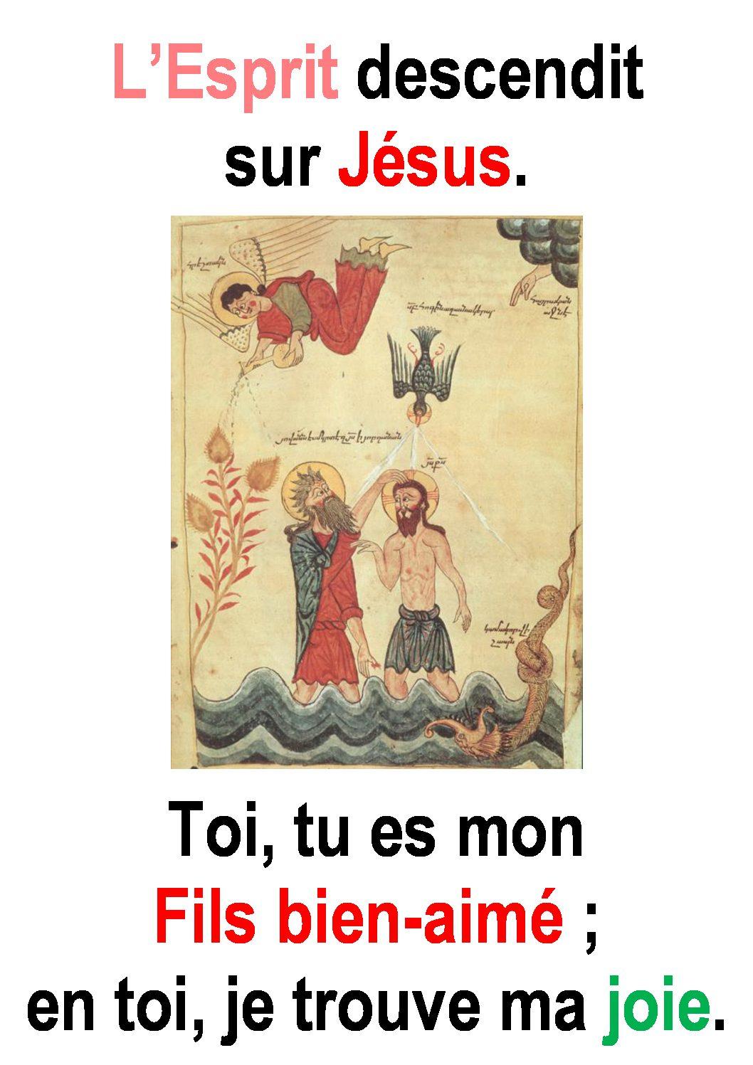 Baptême du Seigneur  (Luc 3, 15-16.21-22) :  « Toi, tu es mon fils bien-aimé … » (Francis Cousin)