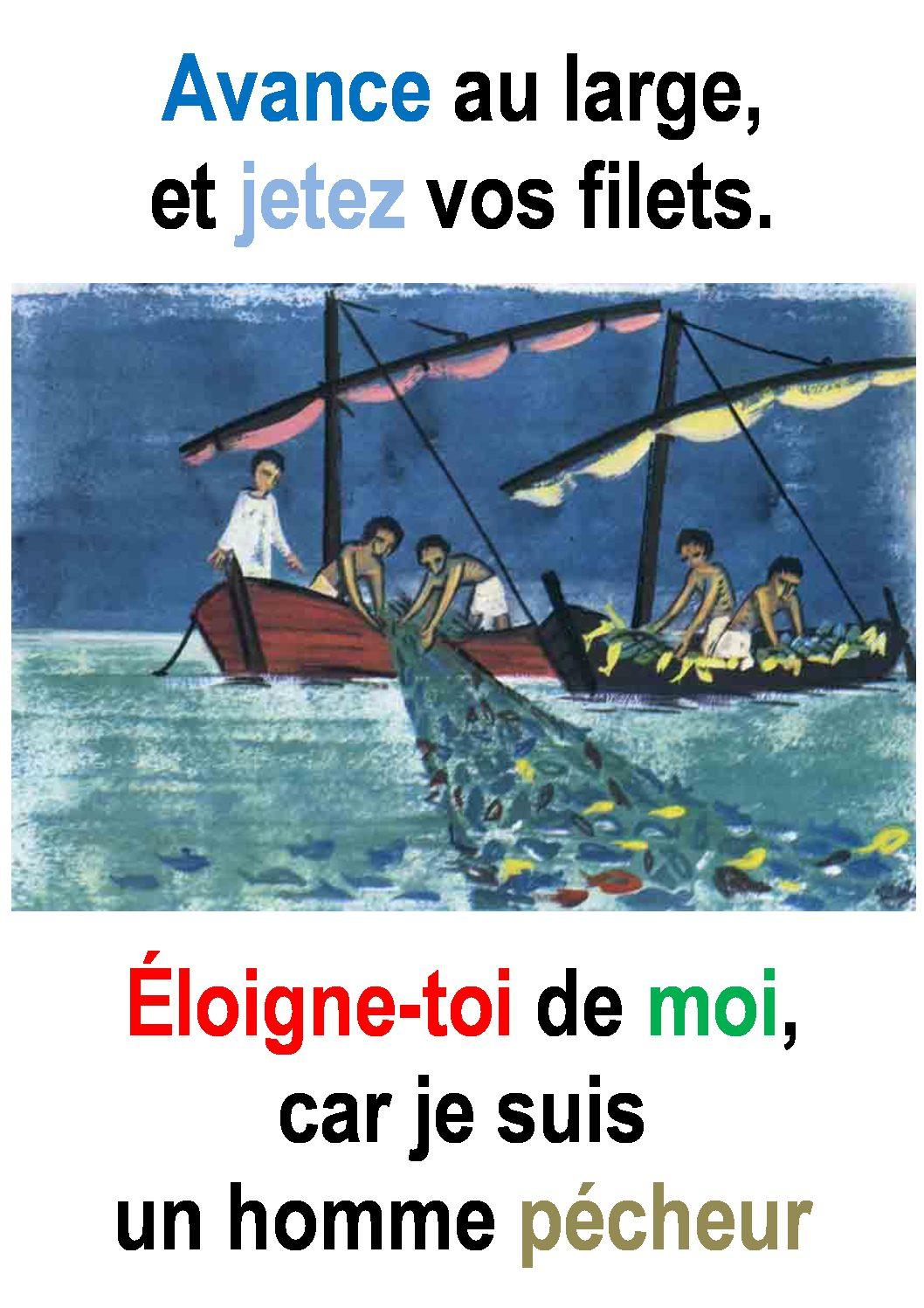 5ième Dimanche du Temps Ordinaire  (Luc 5,1-11) : «Avance au large.» (Francis Cousin)