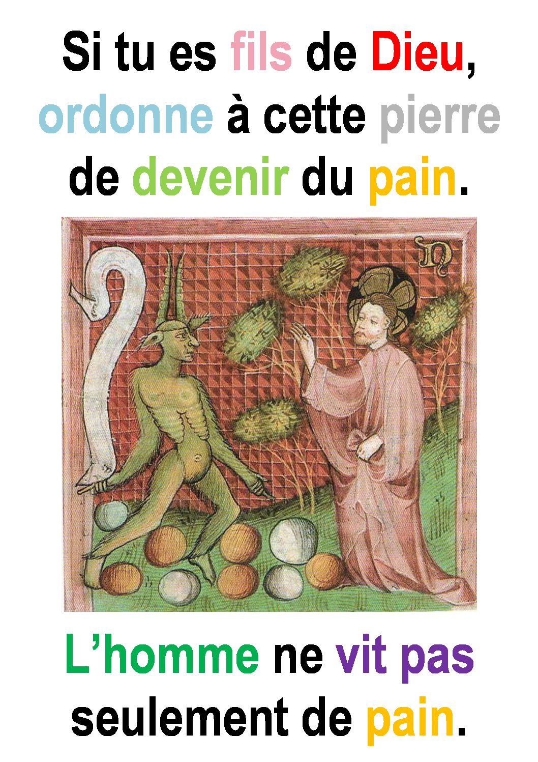 1er Dimanche de Carême  (Luc 4, 1-13) : ««Les tentations de Jésus.» (Francis Cousin)