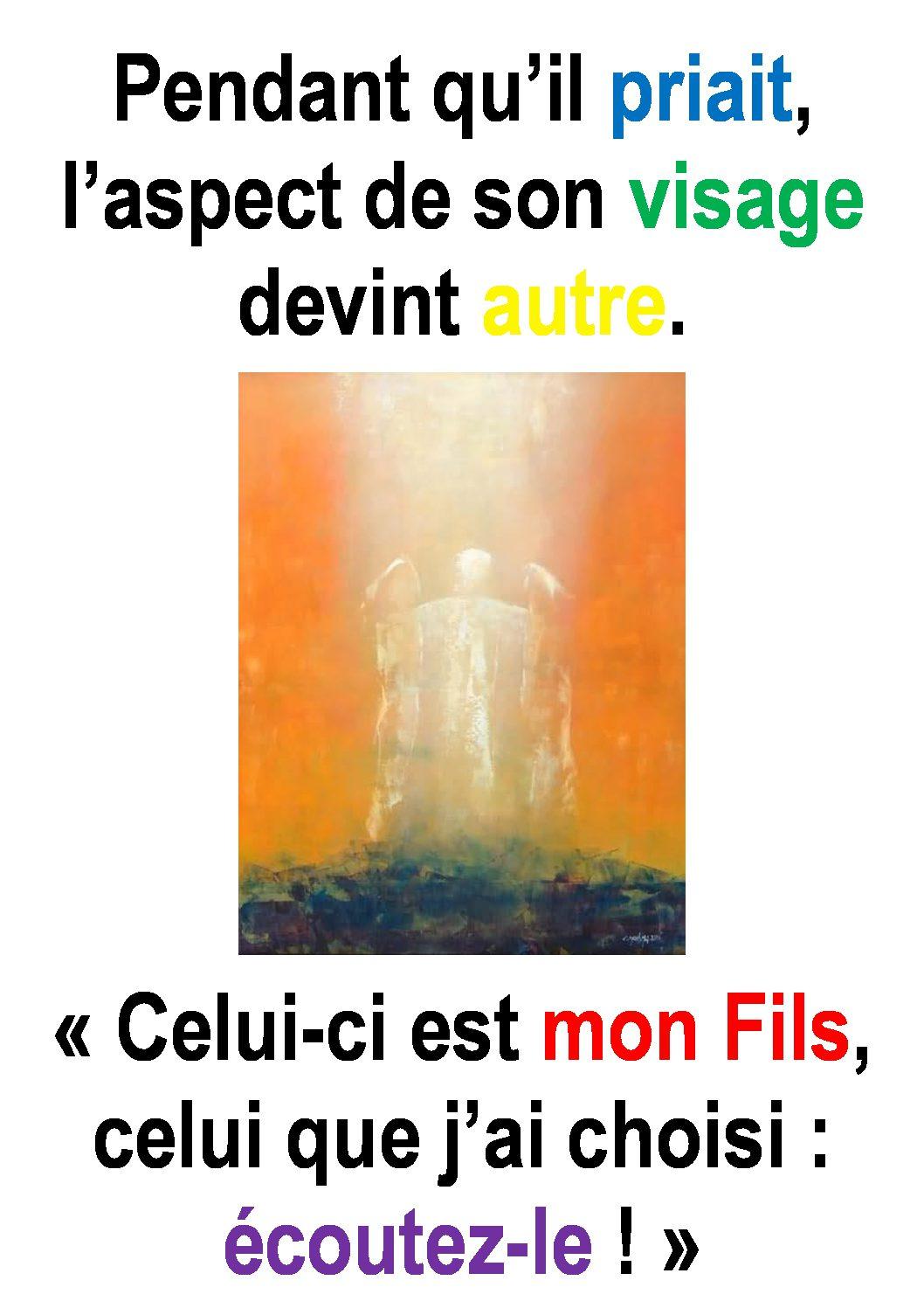 2ième  Dimanche de Carême  (Luc 9, 28-36) : «Seigneur, quand te verrai-je face à face?» (Francis Cousin)
