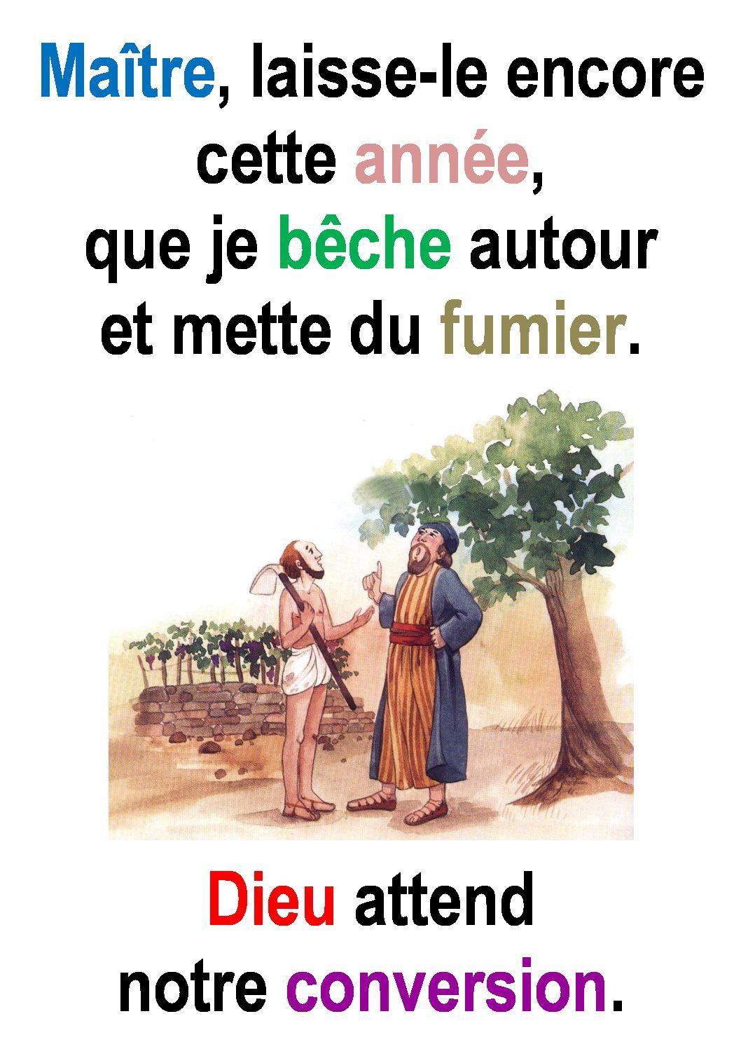 3ième  Dimanche de Carême  (Luc 13, 1-9) : «Convertissez-vous!» (Francis Cousin)