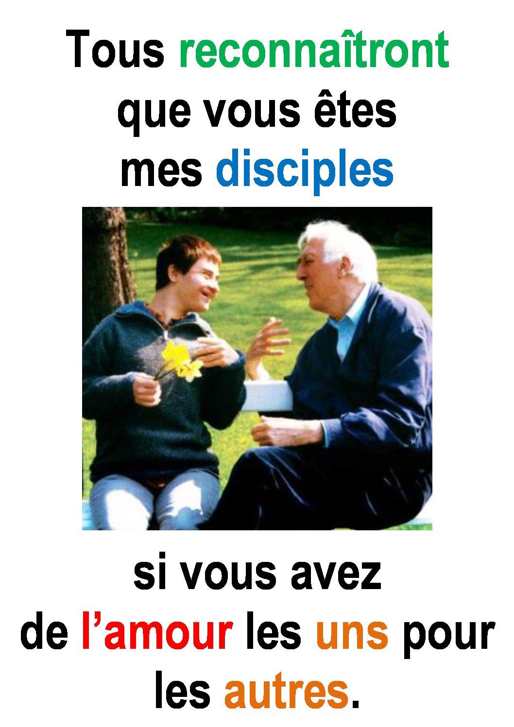 5ième Dimanche de Pâques ( Jean 13, 31-45) :   «Amour, Gloire … et Jésus.» (Francis Cousin)