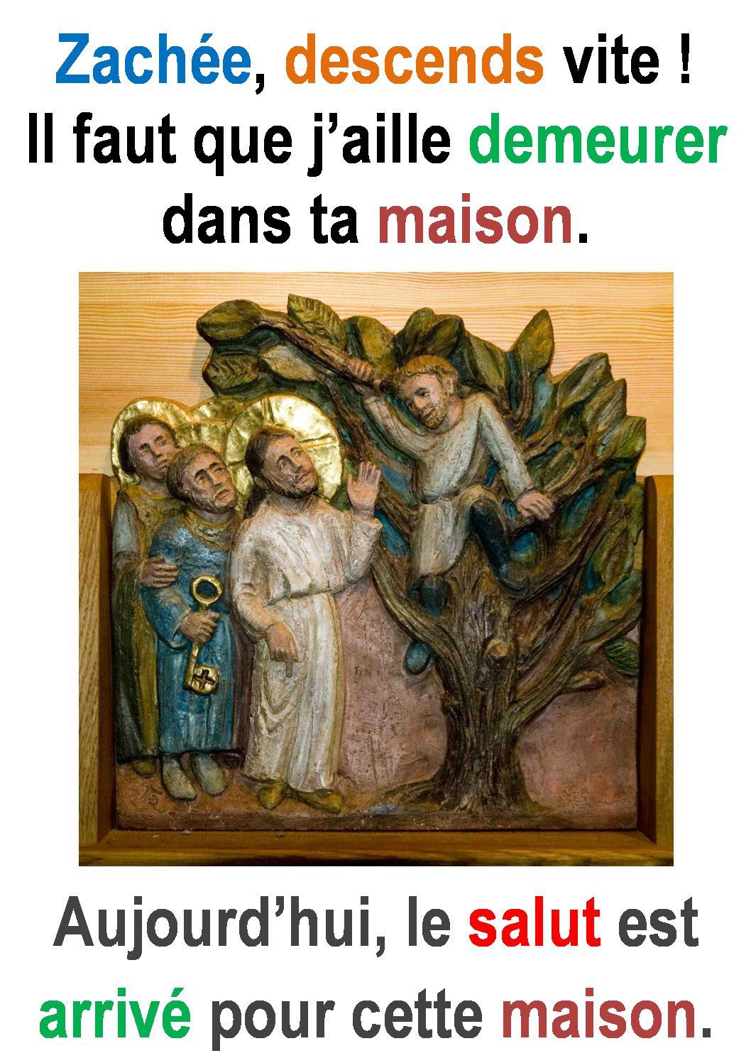 31ième Dimanche du Temps Ordinaire – par Francis COUSIN (St Luc 19, 1-10)