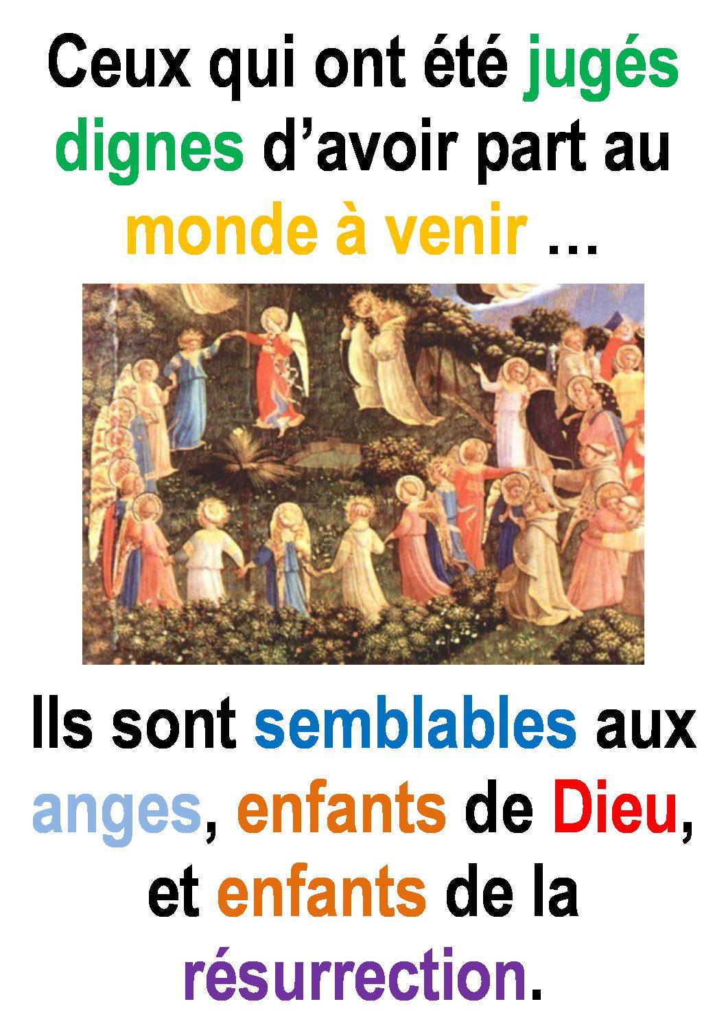 32ième Dimanche du Temps Ordinaire – par Francis COUSIN (St Luc 20, 27-38)
