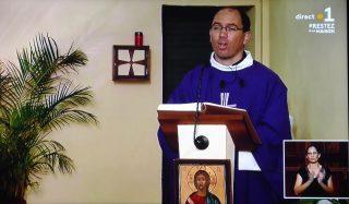 Homélie du Père Sébastien PAYET (Messe télévisée du Dimanche 29 mars)