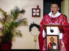 Homélie du Père Pascal CHANE TENG (Messe télévisée du Dimanche des Rameaux, 5 avril 2020)