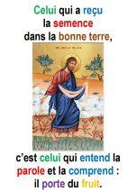 15ième Dimanche du Temps Ordinaire (Matth 13, 1-23) – Francis COUSIN)