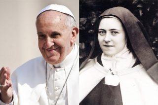 Ste Thérèse de Lisieux, le Pape François et la Vierge Marie (Noéline Fournier)