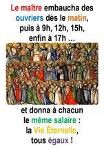 25ième Dimanche du Temps Ordinaire (Matth 20,1-16) – Francis COUSIN)