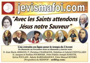 """Retraite en ligne pour le temps de l'Avent : """"Avec les Saints, attendons Jésus notre Sauveur""""…"""