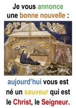 Solennité de la Nativité du Seigneur par Francis COUSIN (Lc 2,1-20)