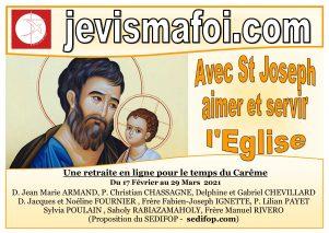 """Retraite de Carême en ligne : """"Avec St Joseph aimer et servir l'Eglise"""""""
