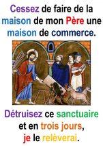 3ième  Dimanche de Carême (Jn 2, 13-25) – Francis Cousin